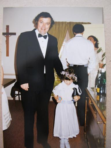 Dad and Flower Girl