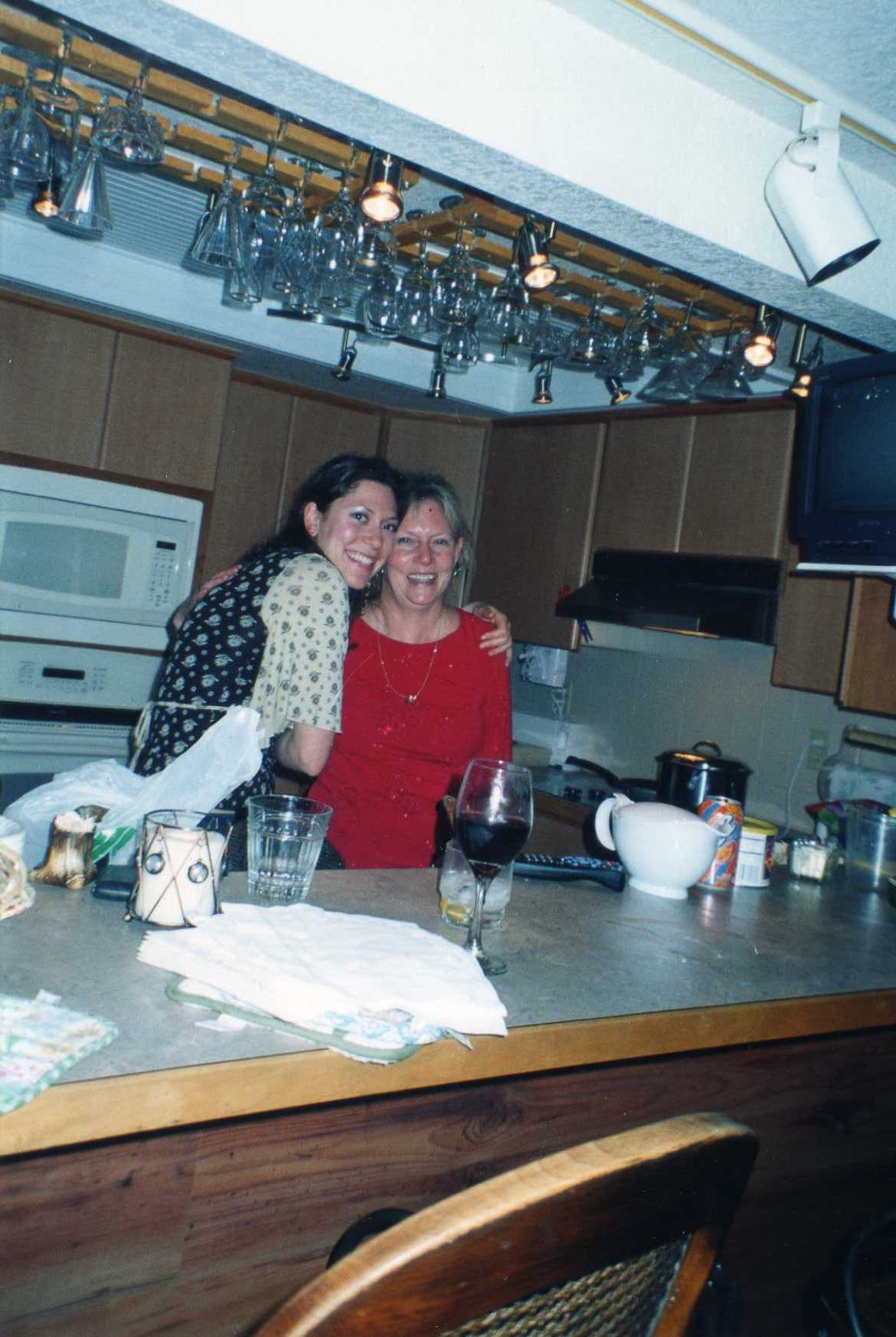 me and mom kitchen
