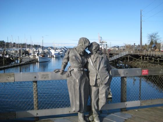 Percival Landing Statues